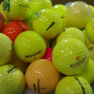 Golfbälle Mix AAAA/AAA farbig gelb rot orange bunt gemischt crystal