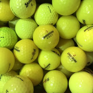 Golfbälle Mix gelb AAAA AAA