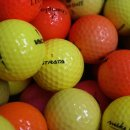 Golfbälle Mix gelb rot bunt farbig AAA - AA